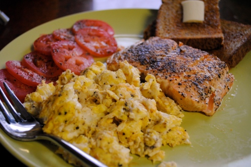 salmon breakfast saturday