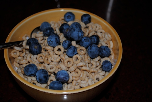 cheerios & blueberries