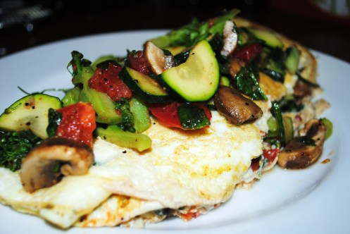 egg white omelette with fresh veggies