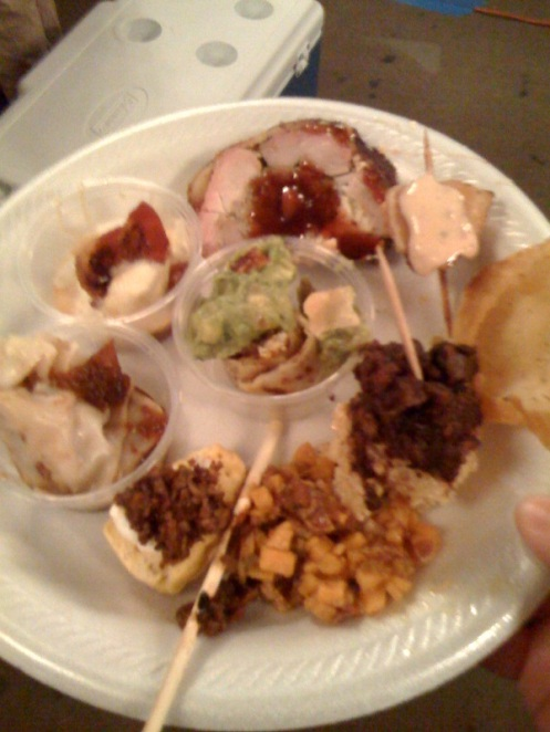 a sample of the dishes at the houston bacon takedown